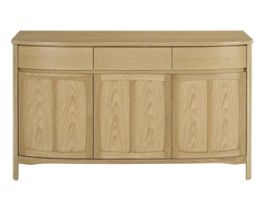 Nathan Shades Oak 3 Door Sideboard