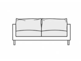 SITS Bianca 2 Seater Sofa