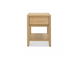 Malmo Oak Lamp Table with Drawer