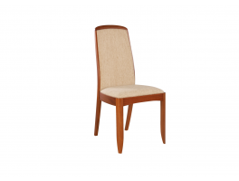 Nathan Shades Teak Upholstered Dining Chair