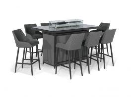 Athena 8 Seat Fire Pit Bar Table