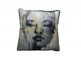 Libra Sketched Female Figure Cushion