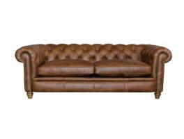 Alexander & James Abraham Junior Large Leather Sofa