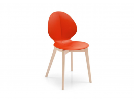 Calligaris Basil Wooden Legged Chair