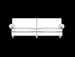 Duresta Burford Grand Split Sofa Classic Back