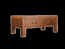 Baumhaus Shiro Walnut Four Drawer Coffee Table