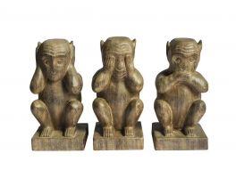Bluebone Set of 3 Wise Monkeys