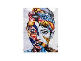 Audrey Hepburn Grafitis 93 Flat Wall Picture