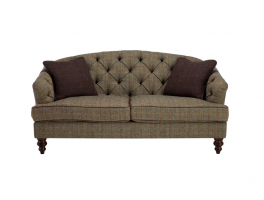 Tetrad Harris Tweed Dalmore Leather Petit Sofa
