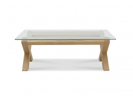 Brienne Light Glass Top Coffee Table