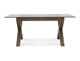 Brienne Glass Top Dining Table