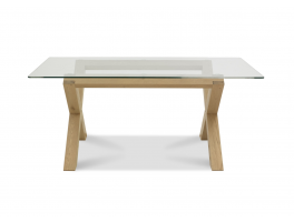Brienne Light Glass Top Dining Table