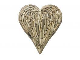 Bluebone Driftwood Medium Heart Wall Deco
