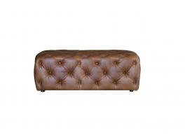 Alexander & James Button Footstool Large Leather Footstool