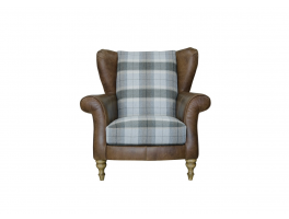 Alexander & James Lawrence Plaid Wing Chair