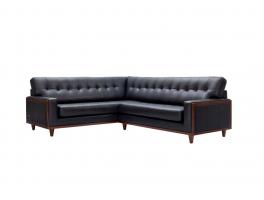 G Plan Vintage Fifty Nine Leather Corner Sofa