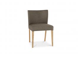 Brienne Light Black/Gold Fabric Chair (Pair)