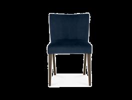 Brienne Dark Blue Velvet Low Back Chair (Pair)