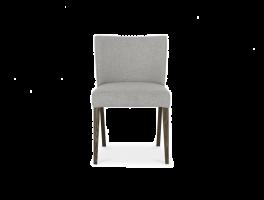 Brienne Pebble Grey Low Back Chair (Pair)