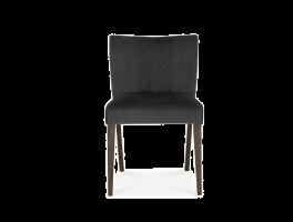 Brienne Gun Metal Velvet Low Back Chair (Pair)