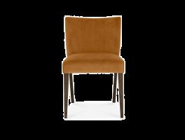 Brienne Harvet Pumpkin Velvet Low Back Chair (Pair)