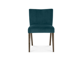 Brienne Sea Green Velvet Low Back Chair (Pair)