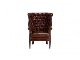 Tetrad Harris Tweed Mackenzie Leather Armchair
