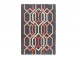 Asiatic Matrix Hexagon Charcoal Rug