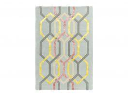 Asiatic Matrix Hexagon Silver Rug