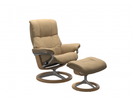 Stressless Mayfair Signature Recliner Chair with Footstool Quick Ship