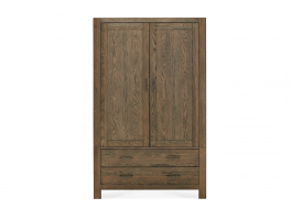 Brienne Bedroom Double Wardrobe with Drawers
