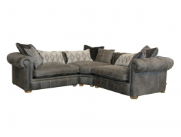 Alexander & James The Retreat Leather 3 Piece Corner Sofa