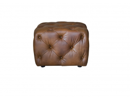 Alexander & James Button Footstool Small Leather Footstool