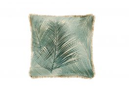 Embroidered Palm Green Cushion