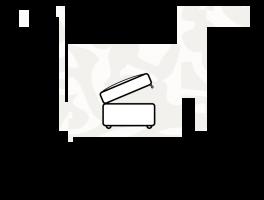 Alstons Malton Storage Stool