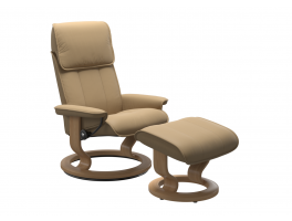 Stressless Admiral Classic Recliner Chair and Stool