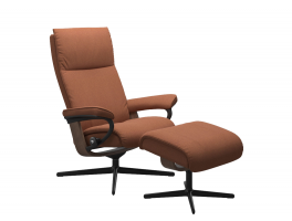 Stressless Aura Cross Chair with Footstool