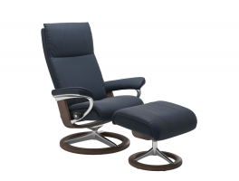 Stressless Aura Signature Chair with Footstool