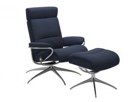 Stressless Tokyo Adjustable Headrest Recliner Chair and Footstool