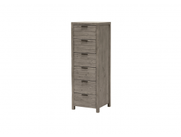 Leo Bedroom 6 Drawer Tall Chest