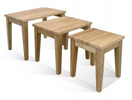 Woodland Living & Dining Nest of 3 Tables