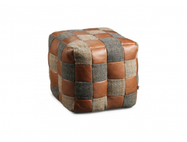 Leather & Wool Cube