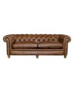Alexander & James Abraham Junior Grand Leather Sofa
