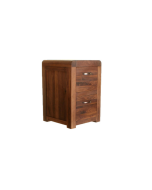 Baumhaus Shiro Walnut Two Drawer Filing Cabinet