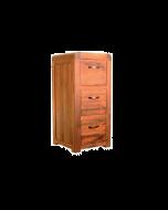 Baumhaus Shiro Walnut 3 Drawer Filing Cabinet