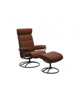 Stressless London Original Adjustable Headrest Chair and Footstool