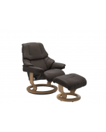Stressless Reno Classic Chair and Stool