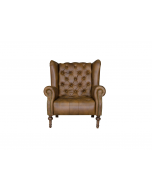 Alexander & James Theo Leather Highback Armchair