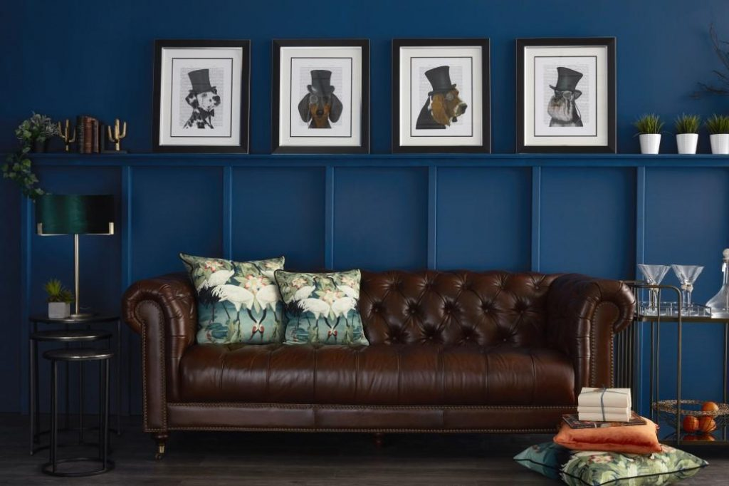 Balmoral Leather Chesterfield Sofa, 2019 Trend